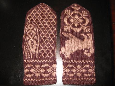 Ann Norling Pattern #08 Basic Mittens on 4 Needles